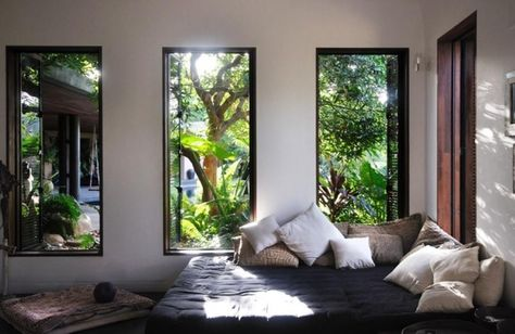Schlafzimmer Fenster Bett-Design Innenarchitektur | Luxury