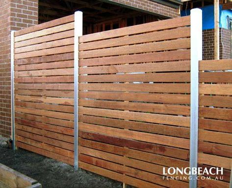 how to build a fence with horizontal slats - Google Search ...