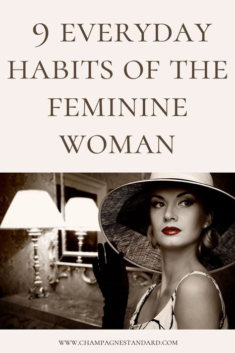 Habits of Feminine and Elegant Women