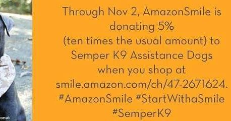 Through Nov 2 Amazon Smile Is Donating 5 Ten Times The Usual