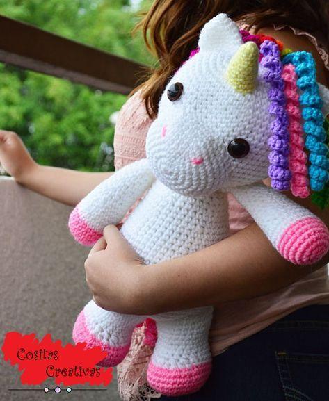 amigurumi #unicornio #patron #crochet #Amigurumi Unicornio Patrón ... | 577x473