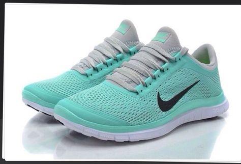 the latest 5d8d5 51760 New Womens Nike Free Run 3.0 V5 Mint Green Tropical Twist Tiff Shoes Sz 8.5  Blue  Nike  RunningCrossTraining