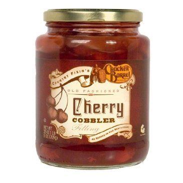February is Cherry Month, making it the perfect time to pick up a bottle of Cracker Barrel Cherry Cobbler Filling.