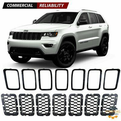 Sponsored Ebay Grill Inserts Trim Ring Cover Guard Honeycomb Mesh For 17 19 Jeep Grand Cherokee Jeep Grand Jeep Grand Cherokee Trim Ring