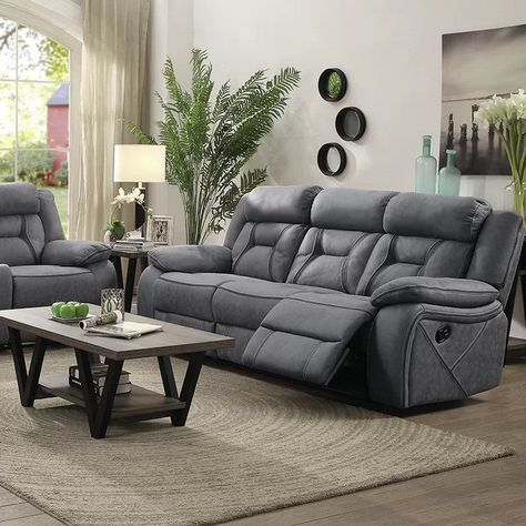 3 pc leather sectional sofa with chaise navigator gray power reclining sofa recliner chair sofa Living Room Seating, Living Room Grey, Living Room Sets, Living Room Chairs, Living Room Designs, Living Room Ideas Recliners, Bedroom Sets, Grey Reclining Sofa, Sectional Sofa With Recliner