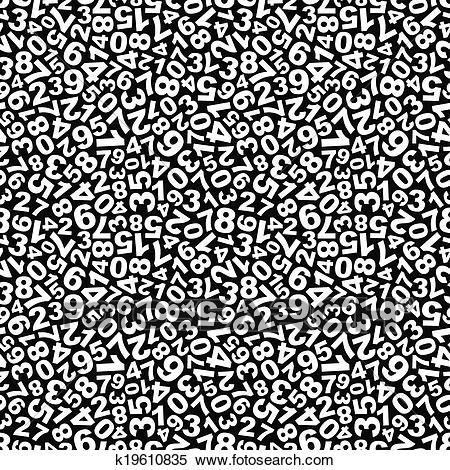 Numbers Seamless Pattern Clipart Mathematics Math Humor