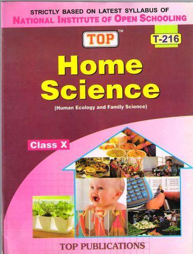 Nios Books Class 10 Home Science 216 English Medium Guide Book Family Science Science