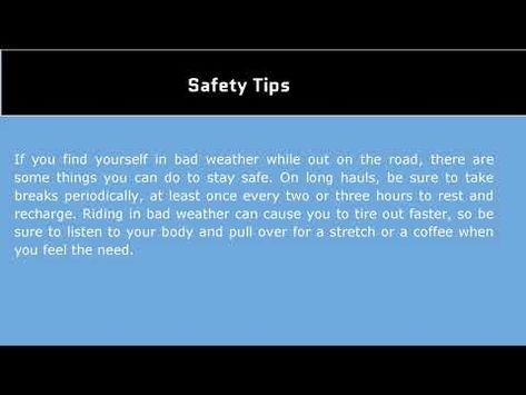Cold Weather Motorcycle Riding Tips