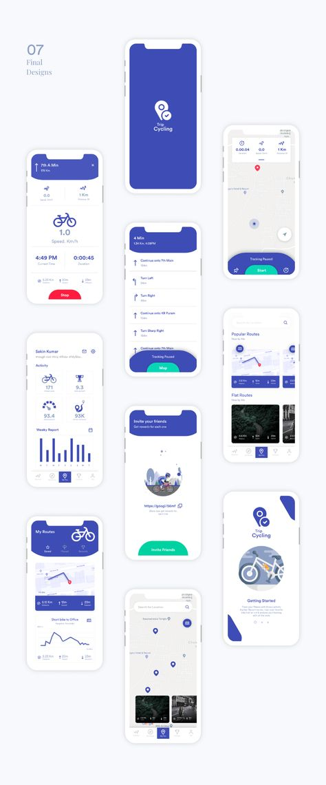 Cycling app 2018 - UI/UX Case study