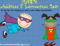 84 page unit for addition and subtraction  crazy cute!
