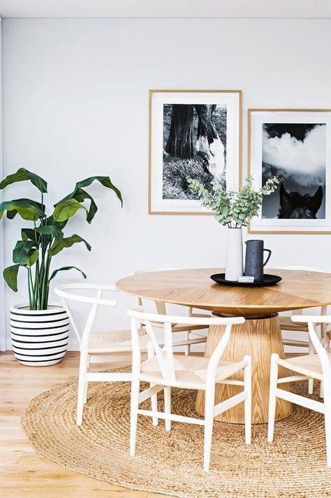 Creating A Modern Boho And Bright Breakfast Nook Diningroomdecor Scandinavian Dining Room Round Pedestal Dining Table Dining Room Inspiration