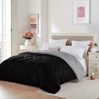 Comforter Reversible Stand Alone Or Duvet Insert Soft Microfiber