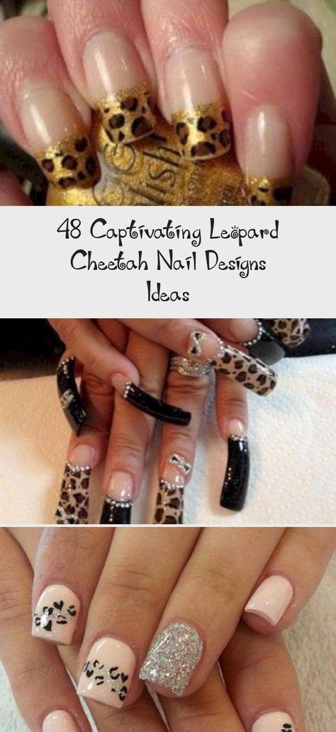 48 Captivating Leopard Cheetah Nail Designs Ideas #Popularnaildesign #naildesignOmbre #naildesignGreen #naildesignOrange #Longnaildesign