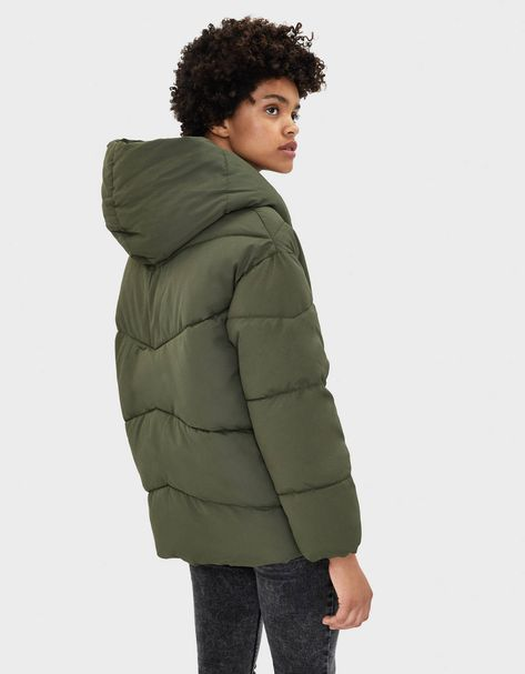 Quilted coat with a wraparound collar | FASHION WOMEN in