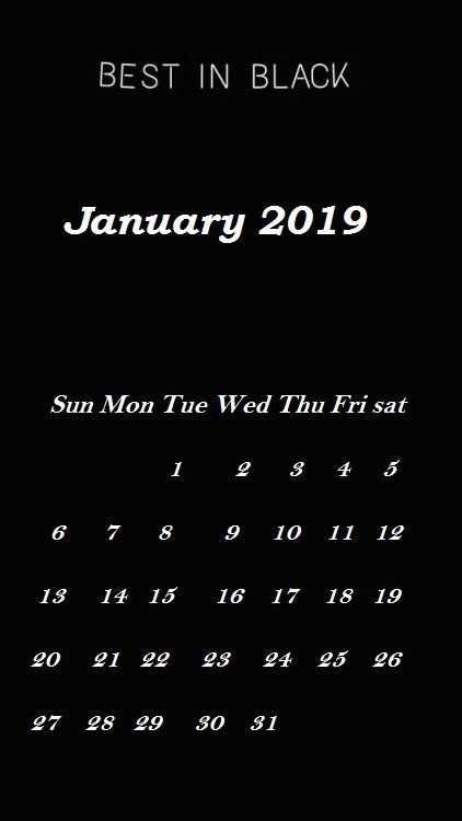 January 2019 Iphone Calendar Wallpaper Calendar Wallpaper