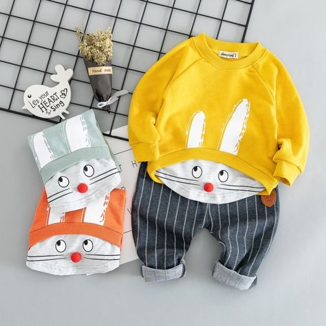 Unisex Baby O-Neck Long Sleeve Pure Color Climbing Clothes Baby Shark Wearing Glasses Crawling Clothes