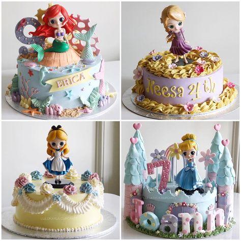 Disney Princesses Cakes Cake Ariellk Buttercreamcake