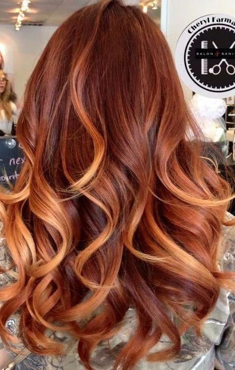 10 Most Popular Copper Hair Color With Highlights Ombre In 2020 Hair Color Auburn Hair Color Caramel Red Hair With Blonde Highlights
