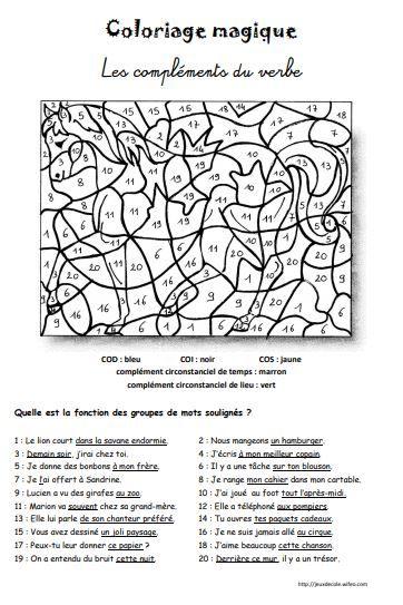 Coloriages Magiques Francais Grammaire In 2021 Bullet Journal Journal
