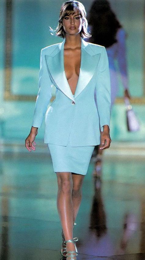 Yasmeen Ghauri in Versace