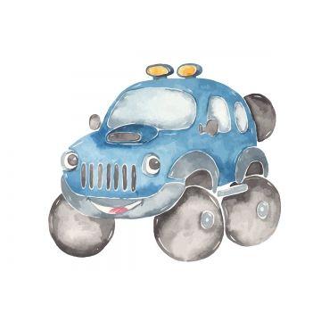 Watercolor Cute Cartoon Car Off Road Suv Clipart Auto Automobile