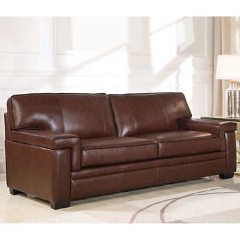Bowmont Leather Sofa In 2020 Leather Sofa Top Grain Leather Sofa Brown Leather Sofa