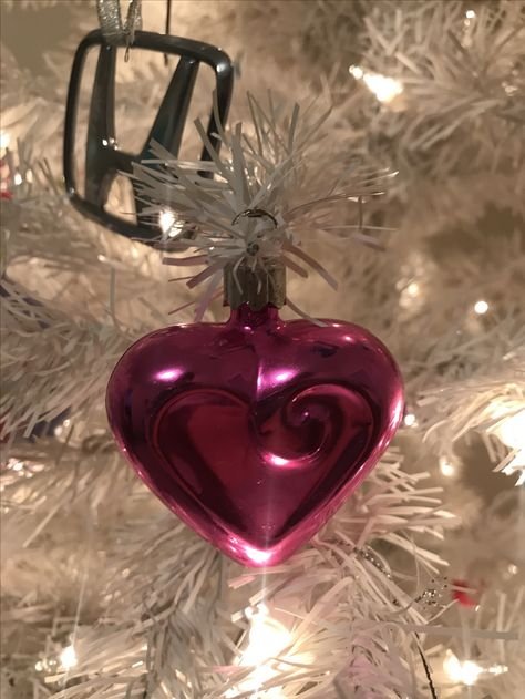 christmas 2017 vintage victoria s secret heart ornament i got when i worked there back in 1999 i miss the heart logo