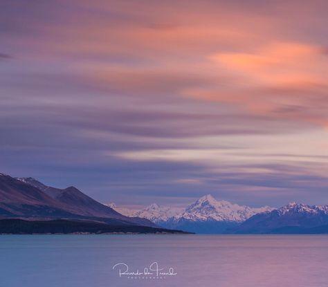 "247 Likes, 35 Comments - Ricardo de Treend (@ricardodetreend) on Instagram: ""Aoraki Mount Cook looking magnificent at dusk over Lake Pukaki in early December.…"""