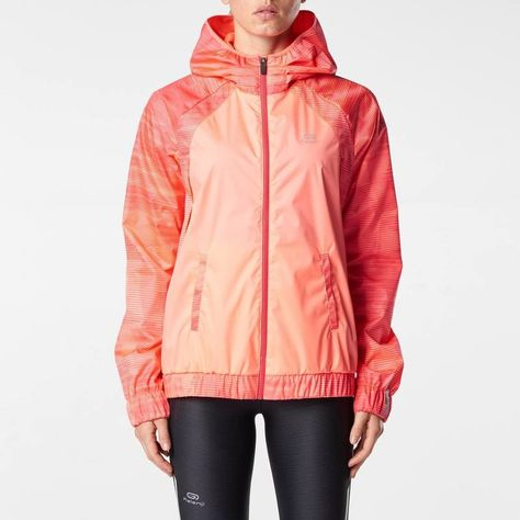 Veste running homme orange
