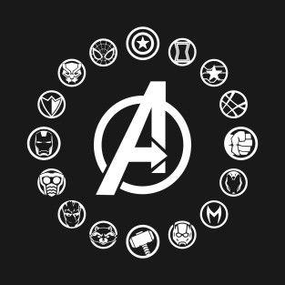 Avengers Infinity War Heroes Icon Infinity War Sticker Teepublic Avengers Tattoo Avengers Symbols Avengers Pictures