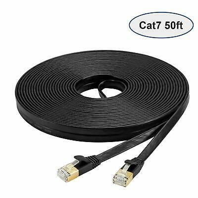 Ebay Ad Url Cat 7 Ethernet Cable 50 Feet High Speed 10 Gigabit Flat Lan Cable With Clips Ethernet Cable Cable Modem Router Cable Modem