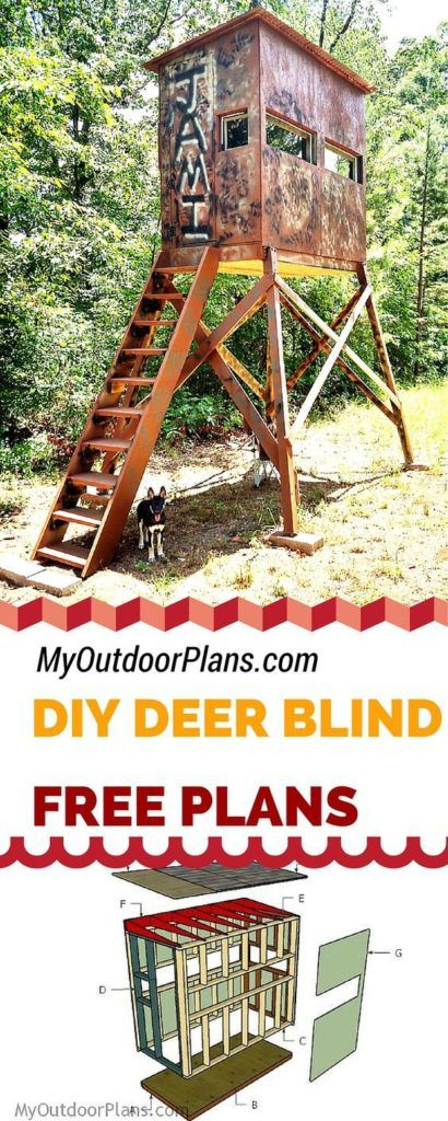 23 Awesome Free Deer Stand Plans You Can Start Right Now Homesthetics Inspiring Ideas For Your Home Deer Stand Deer Shooting Hunting Blinds