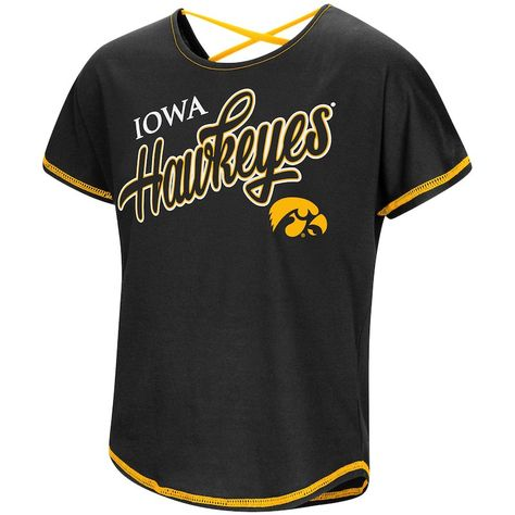 State of Iowa College Letter Tank Top Jersey T-shirt