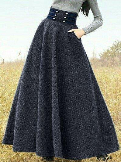 Shop Skirt Vintage Skirt Online Discover Unique Designers Fashion At Hodimall Com In 2020 Vintage Skirt Skirt Fashion Plus Size Long Skirts