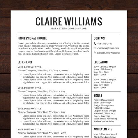 Custom resume and cover letter template - Color circle initials