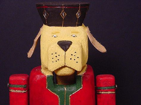 Dog Nutcracker-close up of head from front | by Dr.DeNo