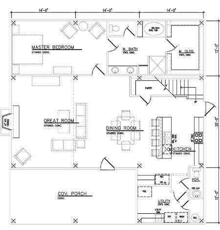 Timber Frame Farmhouse Main Floor Plan