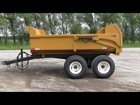 4 Ton Farm Construction Dump Trailer From Berkelmans Welding Manufacturing Youtube Dump Trailers Trailer Trailer Plans