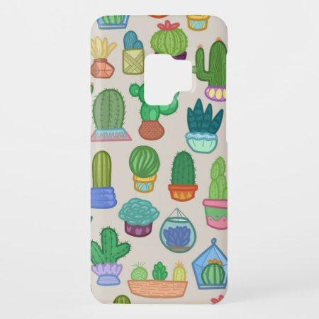 Cute Colorful Cactus Pattern Print Phone Case - tap to personalize and get yours #galaxys9cases #s9cases #photocases #phonecase #galaxy #s9 #samsung #samsunggalaxy #floralsamsungcases #florals9cases #geometric #floral #fractal