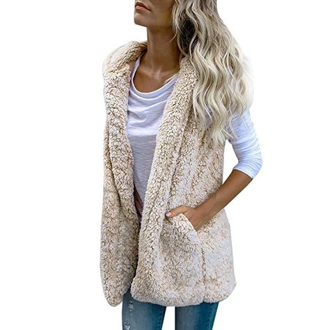 Srogem Womens Tops Winter Women Warm Denim Jackets Knit Long Sleeve Fleece Sherpa Lined Coat with Faux-Fur Collar