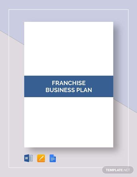 Franchise Business Plan Business Plan Template Franchise