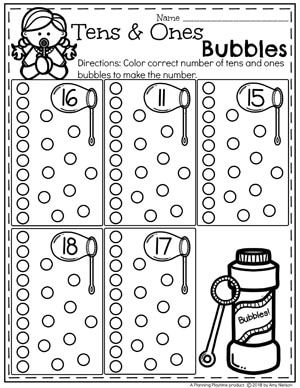 Place Value Worksheets | Best of Kindergarten | Kindergarten math ...