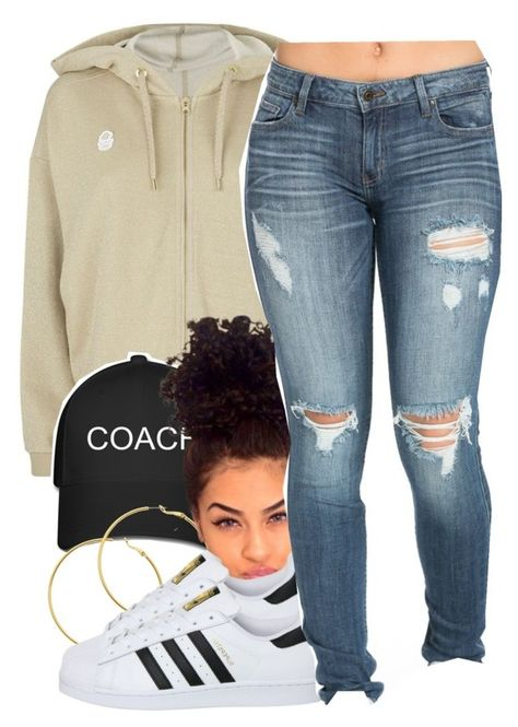 """""""8.30"""" by trinityannetrinity ❤ liked on Polyvore featuring adidas Originals, Melissa Odabash and adidas"""
