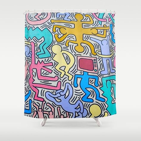 Buy KEITH HARING Shower Curtain By Iconicpaintings Worldwide Shipping Available At Society6 Just One Of Millions High Quality Products
