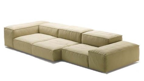MODULAR UPHOLSTERED SOFA EXTRASOFT BY LIVING DIVANI DESIGN PIERO