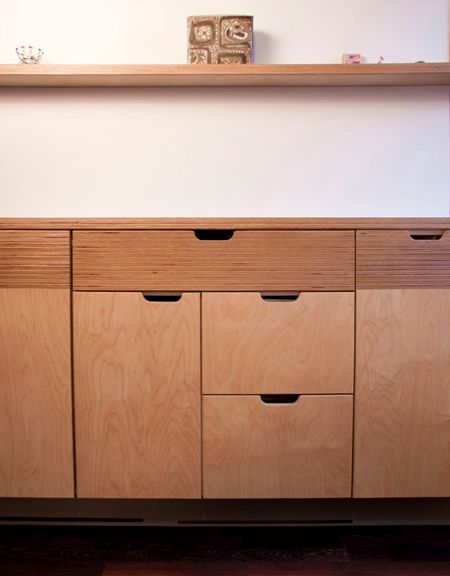 Maybe Some Kerf Cabinets For The Kitchen? Love The Plywood Details And  Hand Holds. | Woodwork Class | Pinterest | Living Room Units, Plywood And  Living ...