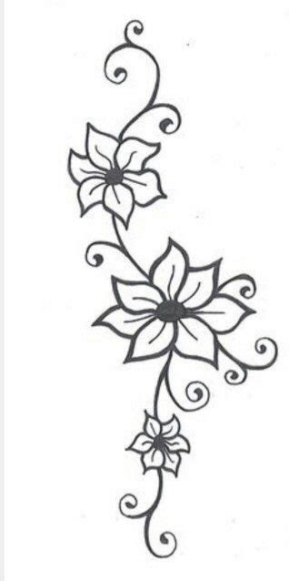 Image Result For Easy Sketches Of Flowers Flower Vine Tattoos