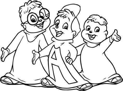 Nice How To Draw The Chipmunks Coloring Page Coloring Pages Drawings Alvin And The Chipmunks