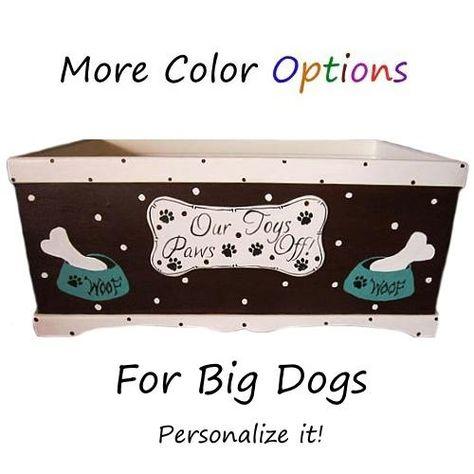 Personalized Big Dog Toy Box Dog Toy Box Big Dog Toys Dog Toys