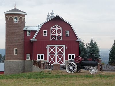 This Barn And Its Silo Are Incredibly Cool I Would Even Love To Have It As A Converted Into House